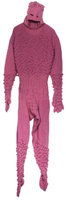 Bobbleman, Hand knit acrylic and buttons, 2006