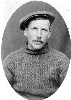 John 'Sparrow' Hardingham, Sheringham lifeboatman and fisherman, 1920.