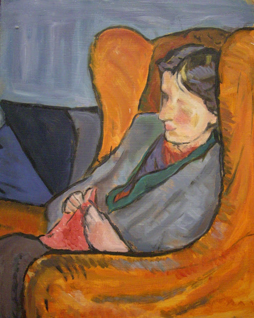 virginia woolf knitting